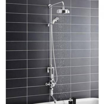BC Designs Victrion Triple Valve With Shower & Spout Bath Filler