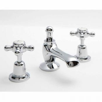 BC Designs Victrion Crosshead 3 Hole Basin Mixer