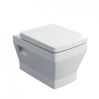 Britton Cube Wall Hung Pan & Soft Close Seat