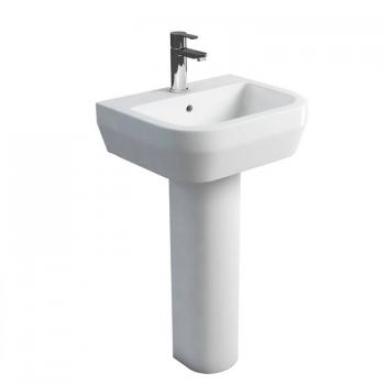 Britton Curve 500mm Basin & Round Fronted Pedestal