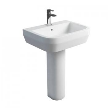 Britton Curve 600mm Basin & Round Fronted Pedestal