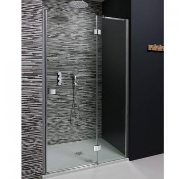 Simpsons Design Hinged Shower Door With Inline Panel