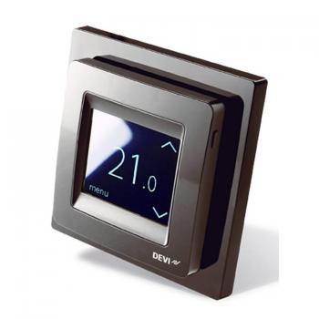 Devi Reg Touch Pure Black Programmable Thermostat
