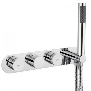 Crosswater Dial 2 Control Shower Valve With Central Trim & Handset