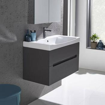Roper Rhodes Diverge Charcoal Elm 800mm Wall Mounted Unit & Basin