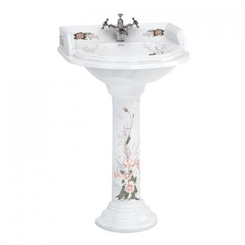 Burlington English Garden Round Basin & English Garden Round Pedestal