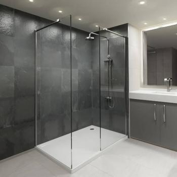 Elite 1600 Walk In Shower Enclosure & Tray