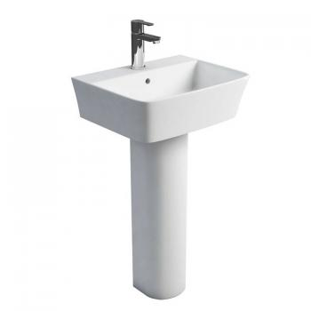 Britton Fine 500mm Basin & Round Fronted Pedestal