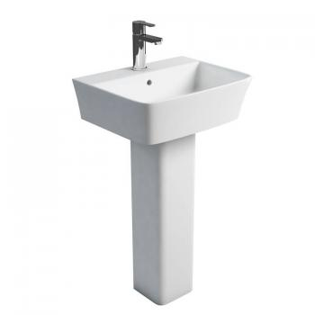 Britton Fine 500mm Basin & Square Fronted Pedestal