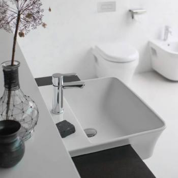 Britton Fine 550mm Semi Recessed Basin