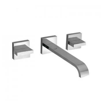 Vado Geo Wall Mounted Basin Mixer With 220mm Spout