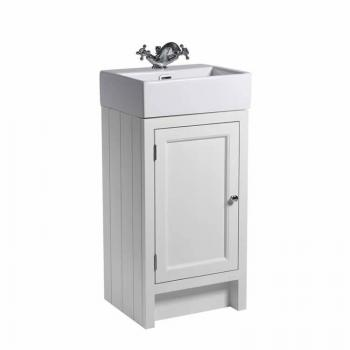 Roper Rhodes Hampton 400mm Chalk White Cloakroom Unit & Basin