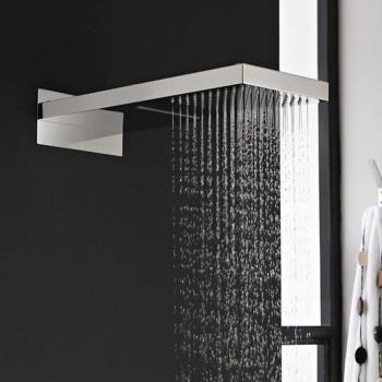 Hudson Reed Rectangular Shower Head With Waterfall