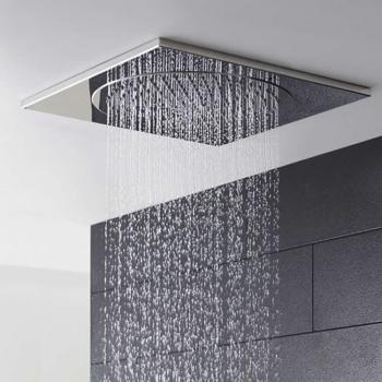 Hudson Reed Square 500mm Ceiling Tile Fixed Shower Head