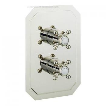 Crosswater Belgravia Crosshead Nickel 2500 Shower Valve With 3 Way Diverter