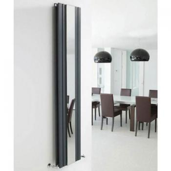 Hudson Reed Sloane 1800mm Anthracite Radiator With Mirror