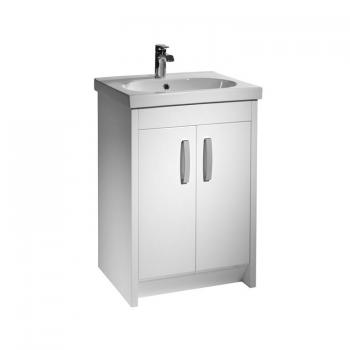 Tavistock Impact 600 White Gloss Freestanding Unit & Basin