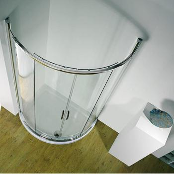 Kudos Infinite Curved Sliding Centre Access Shower Enclosure & Tray