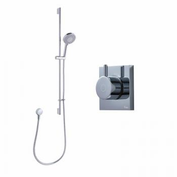 Crosswater Kai Pack 03 Single Outlet Digital Shower Valve & Central Shower Kit