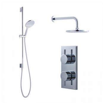 Crosswater Kai Pack 04 Dual Outlet Digital Shower Valve with Head & Shower Kit
