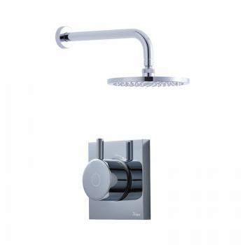 Crosswater Kai Pack 01 Single Outlet Digital Shower Valve &  Shower Head