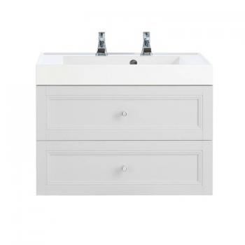Heritage Caversham Dove Grey Wall Hung 2 Drawer Vanity Unit & Basin