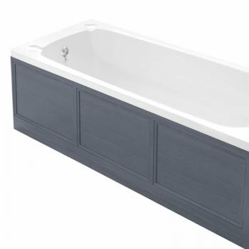 Heritage Graphite Wooden Front Bath Panel