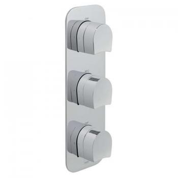 Vado Kovera Triple Dual Outlet Thermostatic Shower Valve