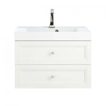 Heritage Caversham White Ash Wall Hung 2 Drawer Vanity Unit & Basin