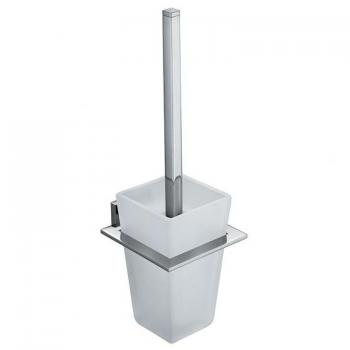 Vado Level Toilet Brush & Frosted Glass Holder