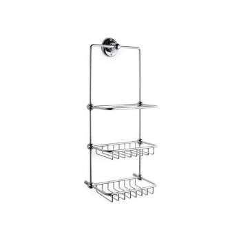Hudson Reed Traditional Chrome Shower Tidy