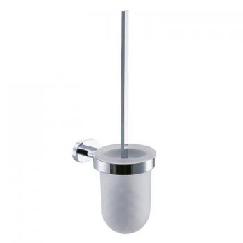 Vado Life Toilet Brush & Frosted Glass Holder