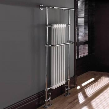 Imperial Malmo 6 Bar Chrome & White Radiator