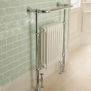 Imperial Malmo 8 Bar Chrome & White Radiator