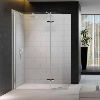 Merlyn 8 Series Shower Wall With Hinged Swivel Panel