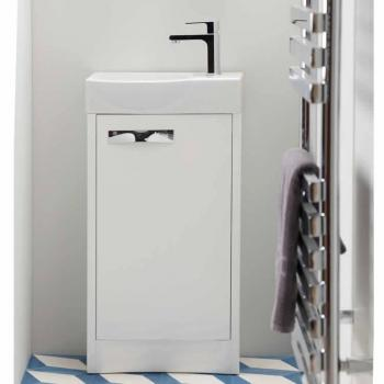 Roper Rhodes Mia Gloss White 460mm Freestanding Unit & Basin
