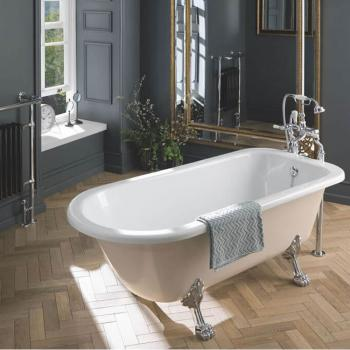 BC Designs Mistley Single Ended Roll Top Painted Freestanding Bath & Feet