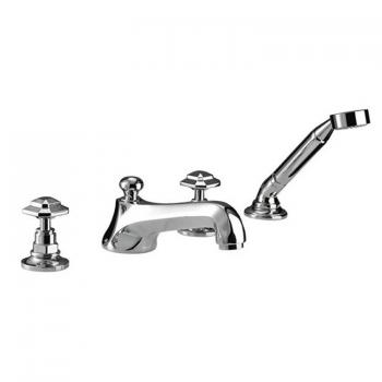 Imperial Niveau 4 Hole Bath Filler With Handset