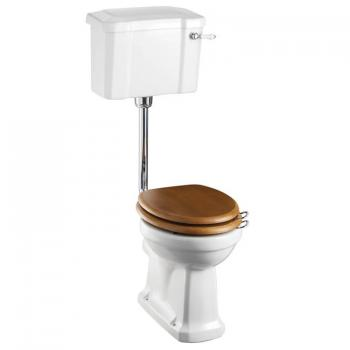 Burlington Slimline Low Level Toilet With Cistern Lever