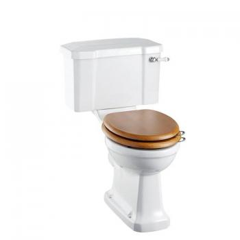 Burlington Close Coupled Toilet With Ceramic Lever