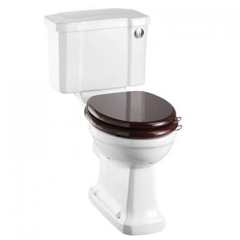 Burlington Slimline Close Coupled Toilet With Front Button