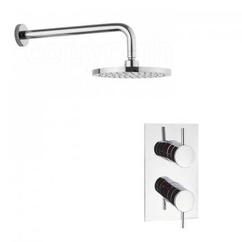 Crosswater Kai Designer Shower Valve & Fixed Shower Head