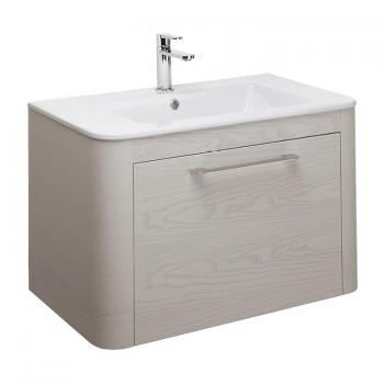 Bauhaus Celeste 800mm Pebble Vanity Unit & Ceramic Basin
