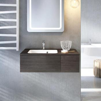 Bauhaus Pier 800mm Steel Wall Hung Console Unit & Basin