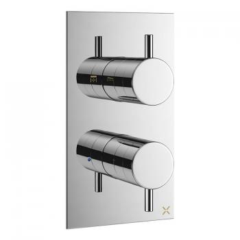 Crosswater MPRO Chrome Thermostatic Shower Valve With Diverter