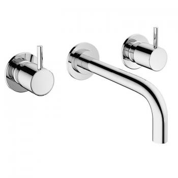 Crosswater MPRO Chrome Wall Mounted Basin 3 Hole Set