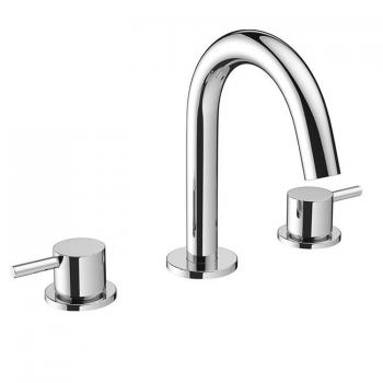Crosswater MPRO Chrome Basin 3 Hole Set