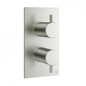 Crosswater Mike Pro Brushed Stainless Steel Thermostatic Shower Valve With Diverter