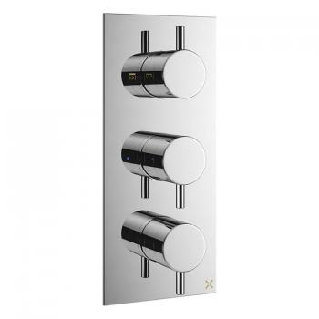 Crosswater MPRO Chrome Thermostatic Triple Shower Valve