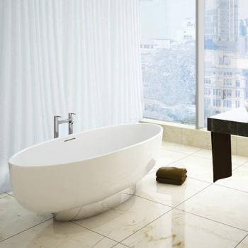 Clearwater Puro Clear Stone Freestanding Bath With Plinth